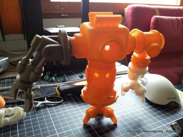 迷你机器人玩偶 3D模型  图3