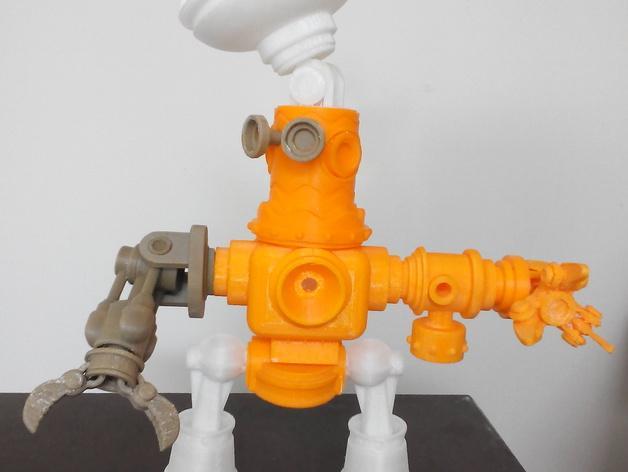 迷你机器人玩偶 3D模型  图2