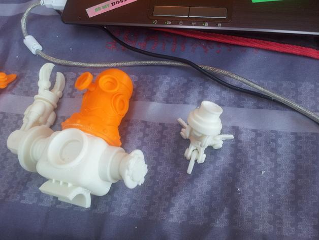 迷你机器人玩偶 3D模型  图4