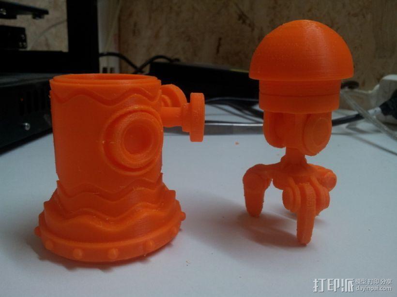 迷你机器人玩偶 3D模型  图12