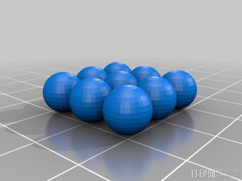 9个迷你高尔夫球 3D模型  图1