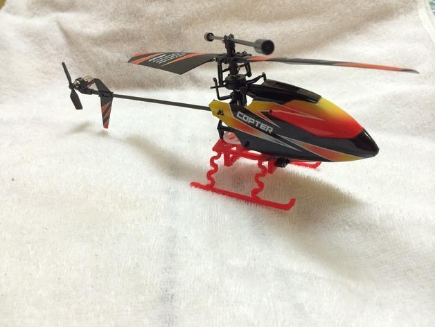 V911遥控直升机起落橇  3D模型  图3