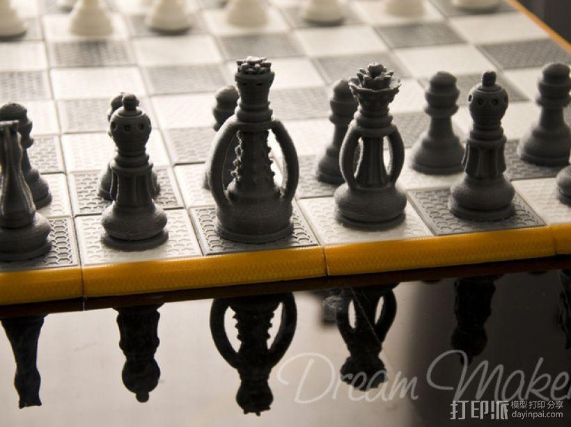国际象棋棋具 3D模型  图2