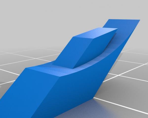 带叶片的旋转陀螺 3D模型  图2