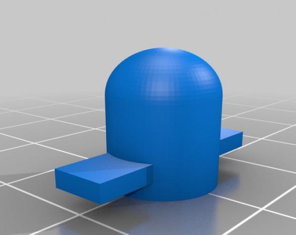 带叶片的旋转陀螺 3D模型  图3