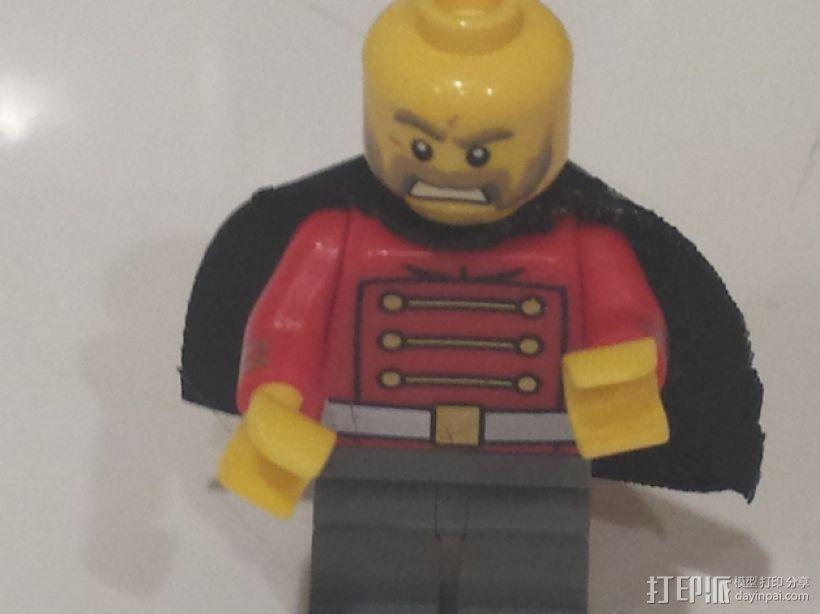 乐高超级英雄黑武士披肩 3D模型  图1