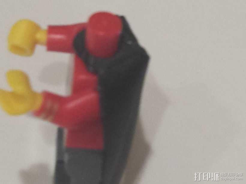 乐高超级英雄黑武士披肩 3D模型  图3