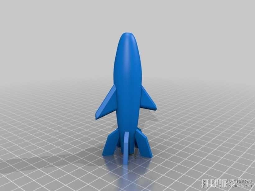 迷你火箭模型 3D模型  图4