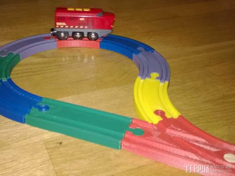 Brio玩具火车车轨模型 3D模型  图1