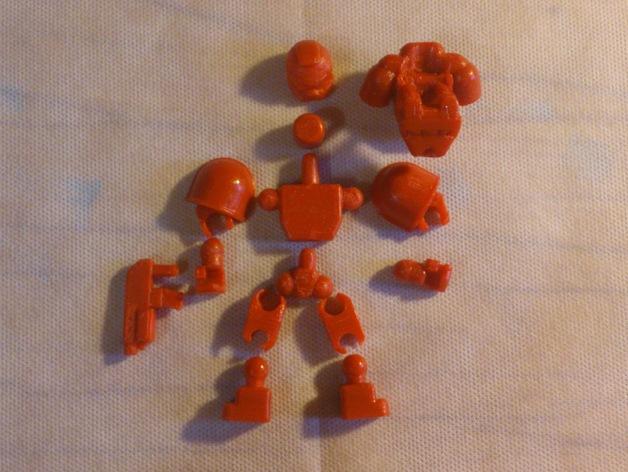 迷你星际战士模型 3D模型  图1