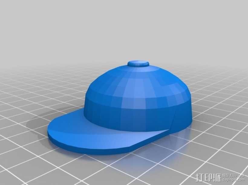 迷你棒球帽模型 3D模型  图2