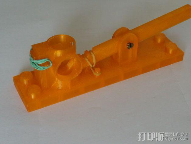 得宝滚珠抽运装置 3D模型  图1