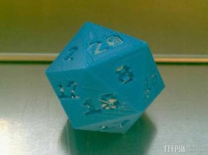 二十面体骰子 3D模型  图1