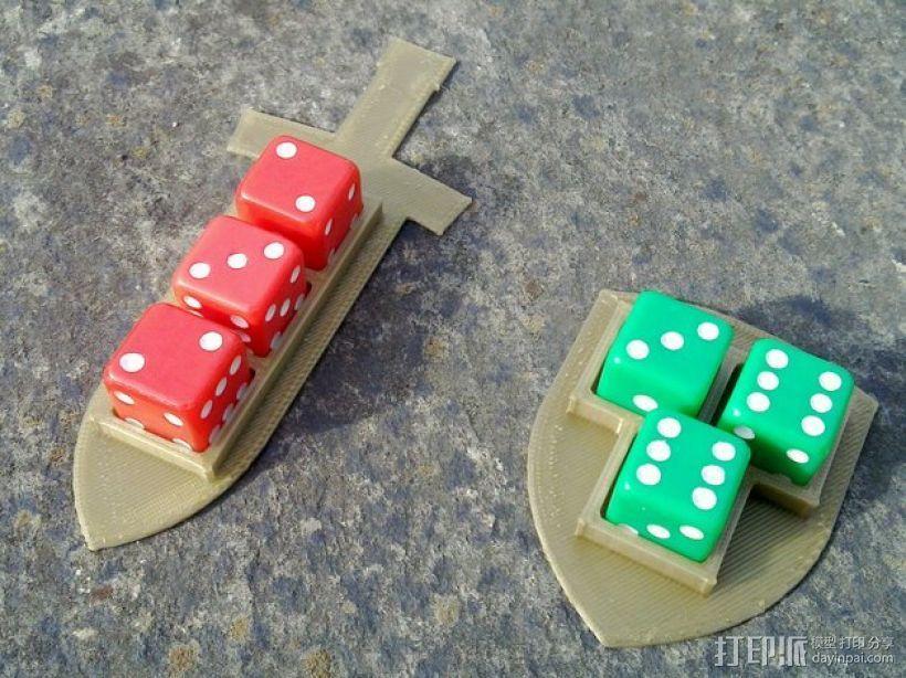 Pocket Tactics游戏骰子托盘 3D模型  图1