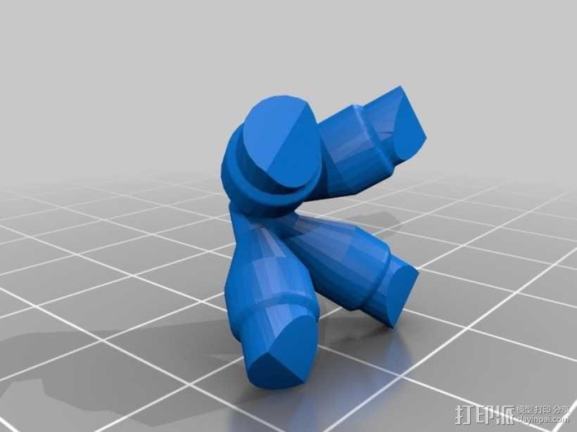 可打印的大脑齿轮模型 3D模型  图4