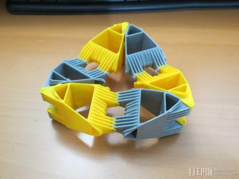 四面体选转环模型 3D模型  图1