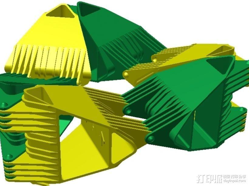 四面体选转环模型 3D模型  图6