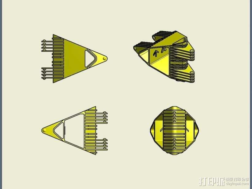 四面体选转环模型 3D模型  图5