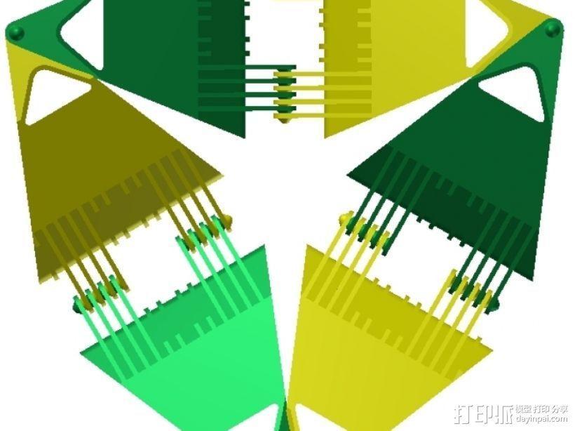 四面体选转环模型 3D模型  图7