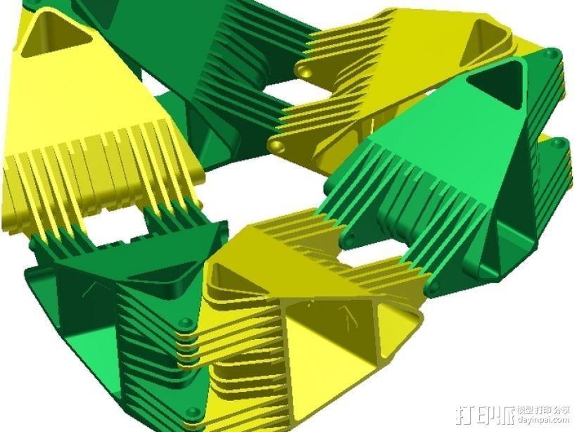 四面体选转环模型 3D模型  图8
