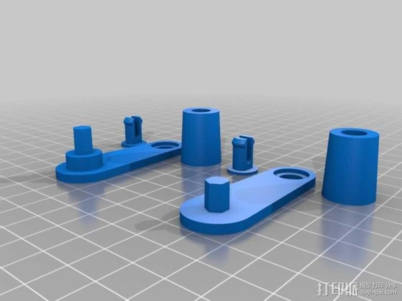 行星齿轮控制杆 3D模型  图2