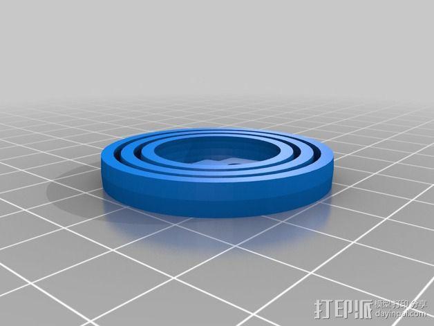 参数化平衡环模型 3D模型  图2