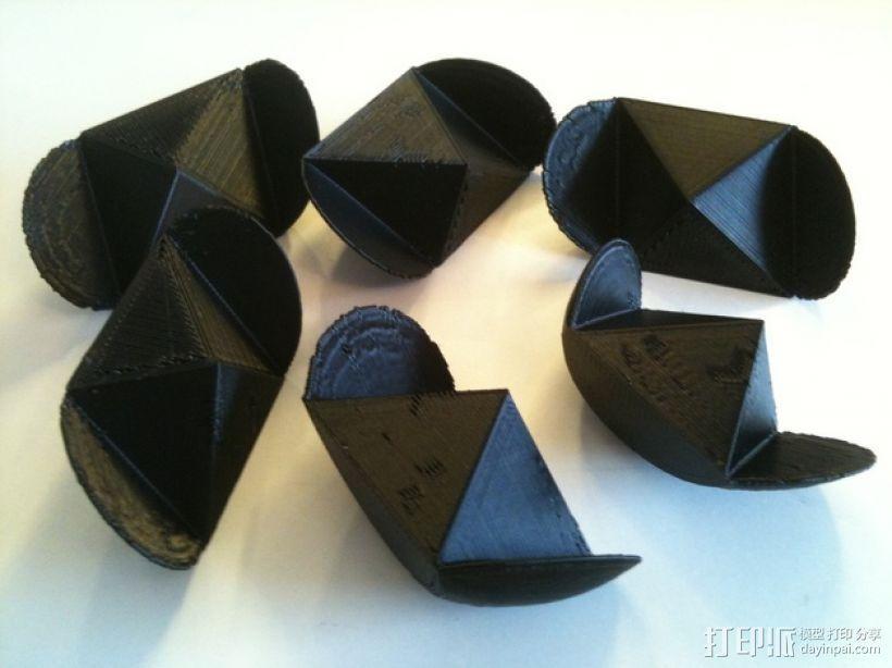 椭圆球形拼图 3D模型  图2