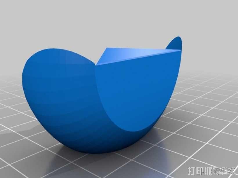 椭圆球形拼图 3D模型  图3