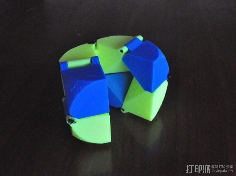 带轴销的折叠立方体 3D模型  图1