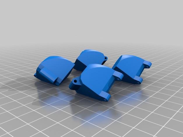 带轴销的折叠立方体 3D模型  图2