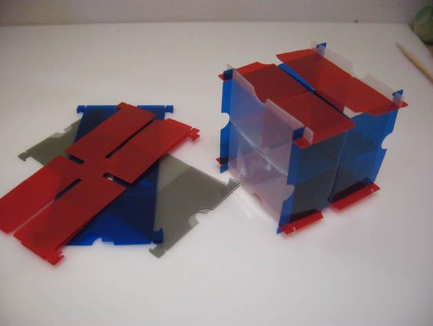 灵活的鲁班锁Cuburr 3D模型  图1