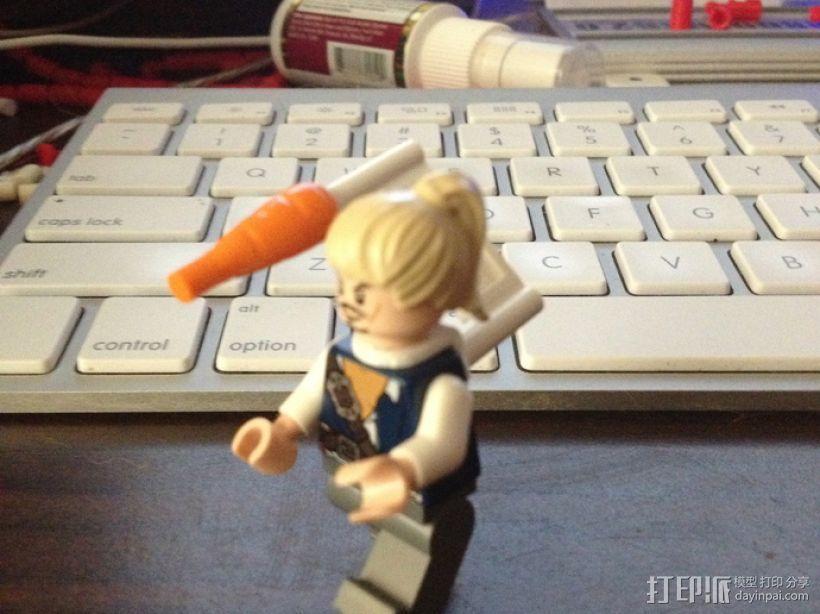 乐高玩具背部配适器模型 3D模型  图1