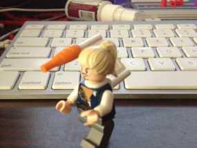 乐高玩具背部配适器模型 3D模型