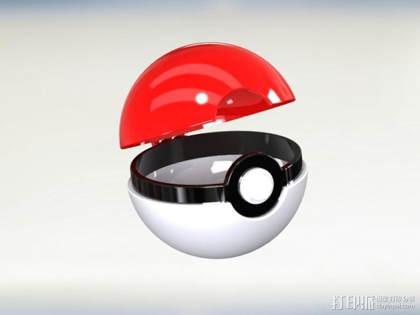 迷你神奇宝贝球 3D模型  图1