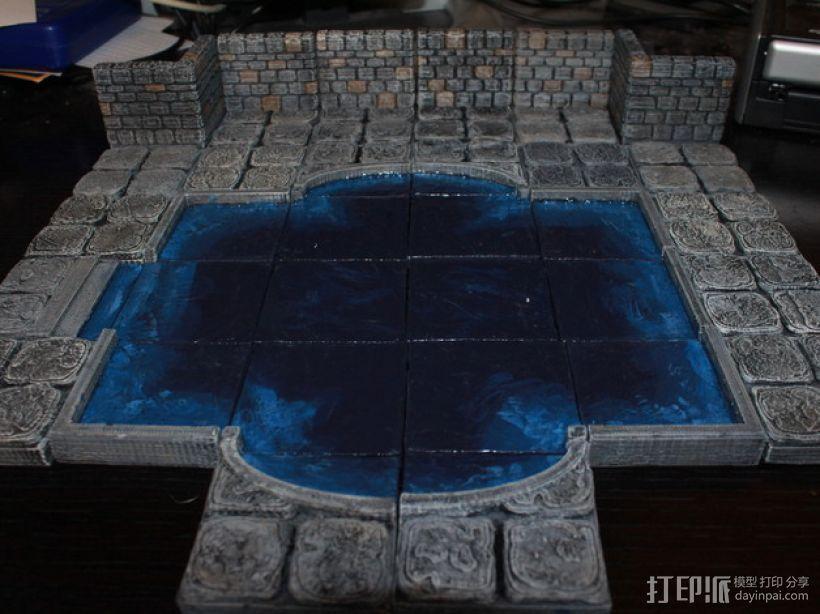 OpenForge迷你水池模型 3D模型  图1