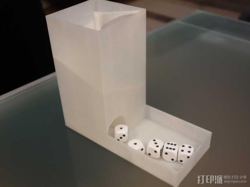 螺旋骰子塔模型 3D模型  图1