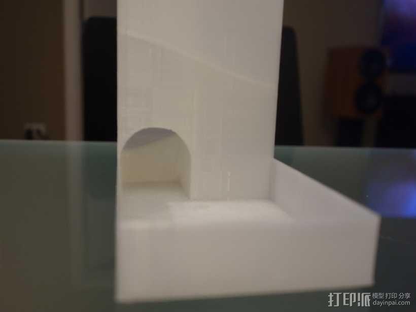 螺旋骰子塔模型 3D模型  图3