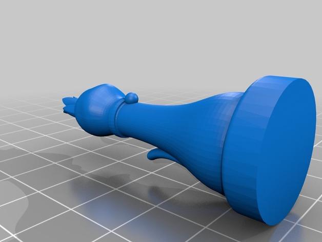 猫形象棋棋子 -- 王后 3D模型  图5