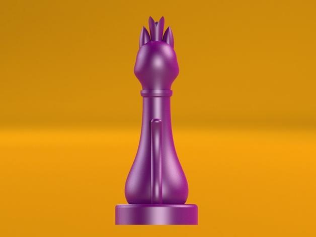 猫形象棋棋子 -- 王后 3D模型  图8