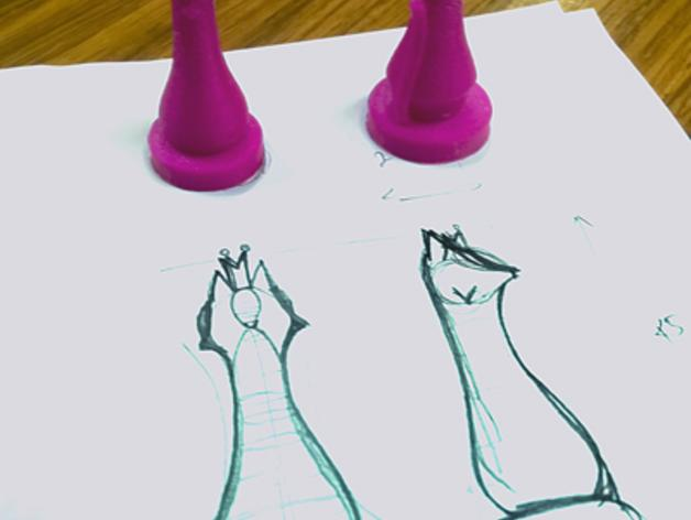 猫形象棋棋子 -- 王后 3D模型  图10