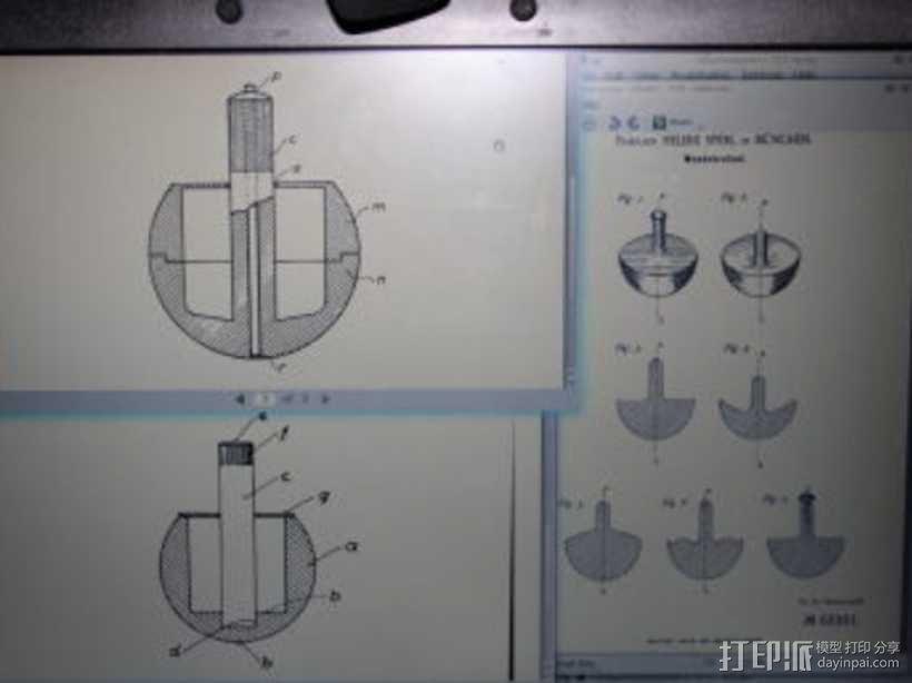 翻身陀螺模型 3D模型  图3