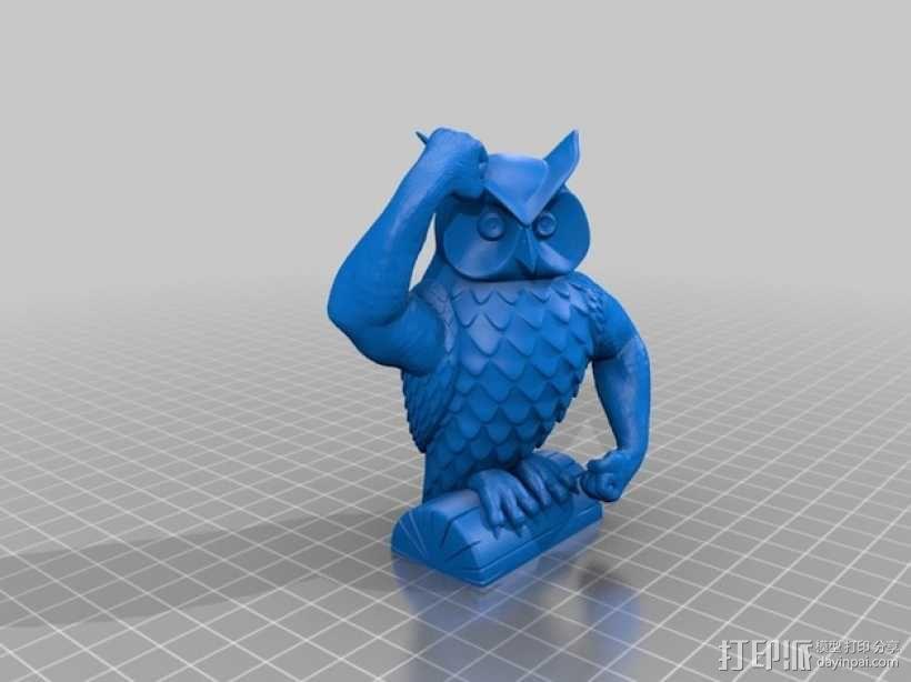 迷你猫头鹰 3D模型  图1