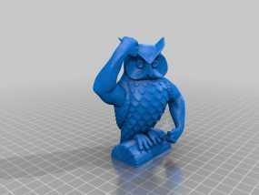迷你猫头鹰 3D模型
