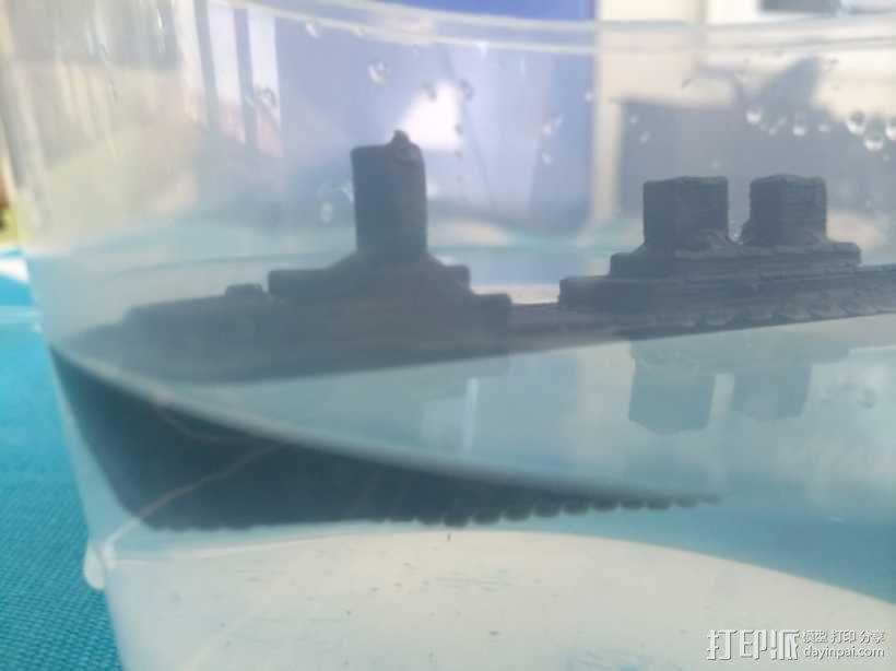 超级战舰模型 3D模型  图1