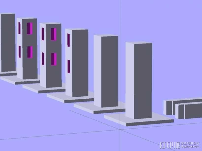 Minecraft:栅栏 3D模型  图1