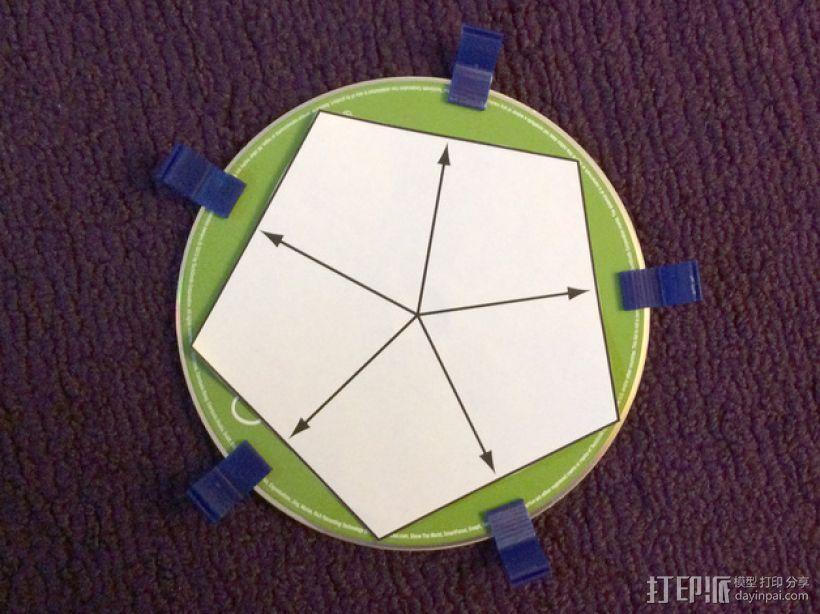 磁盘拼成的十二面体模型 3D模型  图2