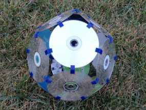 磁盘拼成的十二面体模型 3D模型