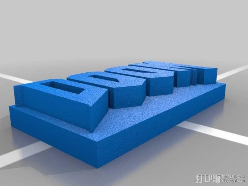 毁灭战士游戏标志 3D模型  图2
