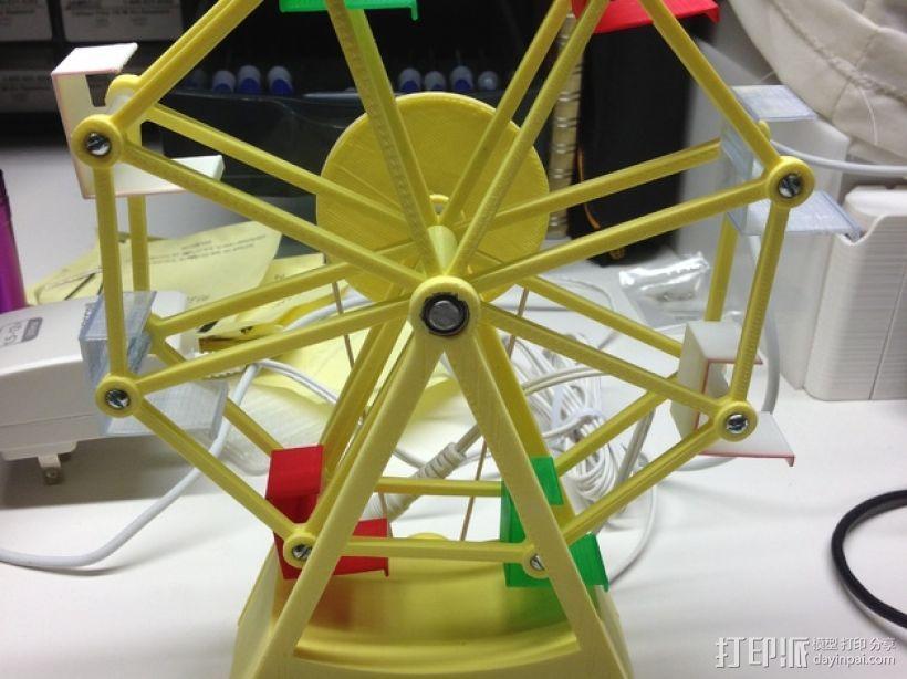 迷你摩天轮模型 3D模型  图1