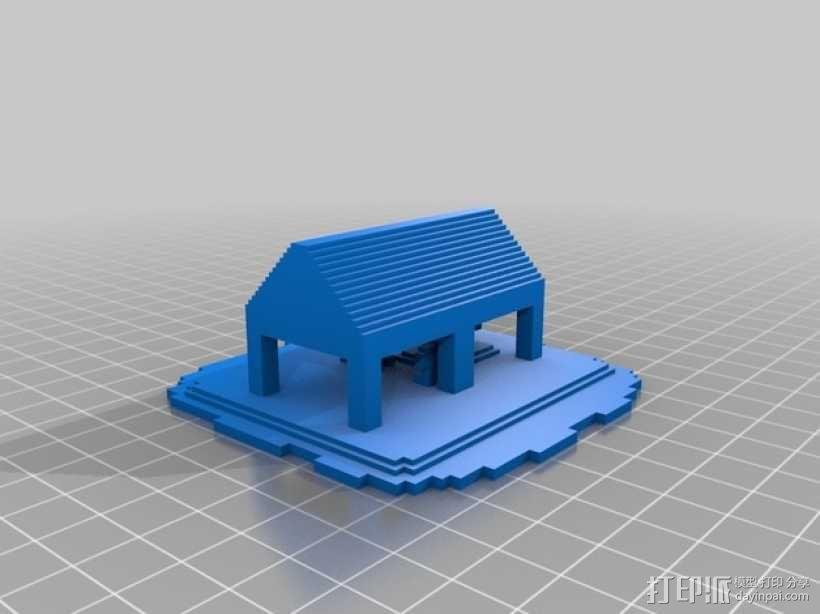 Minecraft:希腊神庙 3D模型  图2